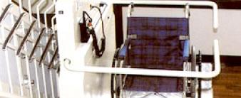 階段昇降機(車椅子式)設置事例イメージ