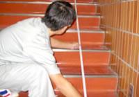 階段昇降機設置のための階段の計測イメージ