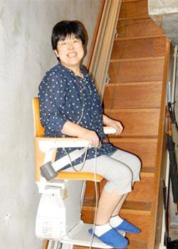 階段昇降機をご利用中の札幌市K様