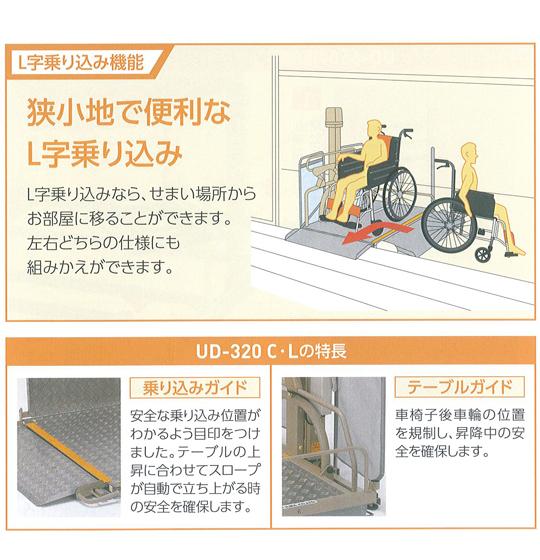 L字乗り込み機能「狭小地で便利なL字乗り込み」L字乗り込みなら、せまい場所からお部屋に移ることができます。左右どちらの仕様にも組みかえができます。