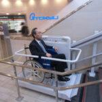 車いすでも地下鉄から便利に百貨店巡りができる様になりました